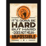 #8: Fatmug Posters For Room - Inspirational And Motivational Framed Quotes On Success - Hard But Not Impossible