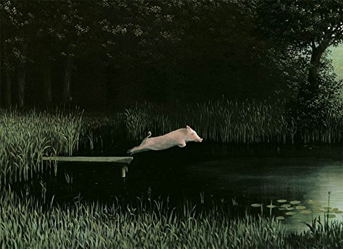 Postkarte A6 • 0109-2 ''Köhlers Schwein'' von Inkognito • Künstler: Michael Sowa • Satire • Fantastik