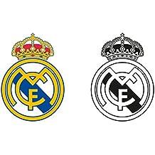 Pegatinas decorativas para pared - Licencia oficial Real Madrid - Jugadores y escenas