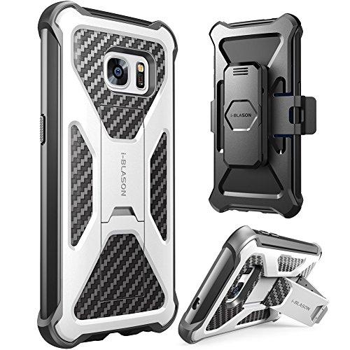 i-Blason Prime Samsung Galaxy S7 Hülle Outdoor Handyhülle Dual Layer Case Stoßfest Schutzhülle Cover mit Ständer und Gürtelclip, Weiß