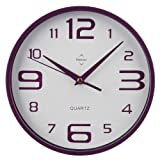 Acquista Premier Housewares 2200574 Orologio da Parete in Plastica, Viola