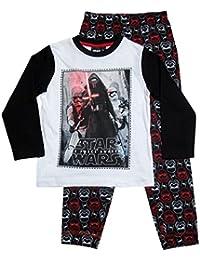 Star Wars Pyjama Kollektion 2016 Schlafanzug 104 110 116 122 128 134 140 146 Stormtrooper Sturmtruppler Kylo Ren Lang Weiß-Schwarz (104 - 110, Weiß-Schwarz)