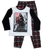 Star Wars Pyjama Kollektion 2017 Lang 104 110 116 122 128 134 140 146 Jungen Kylo Ren Sturmtruppler Schlafanzug Stormtrooper (Weiß-Schwarz, 116-122)