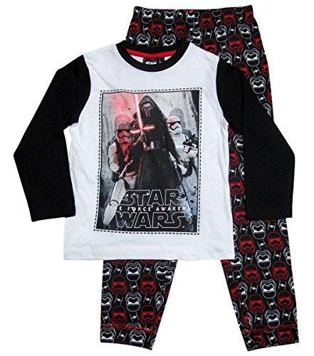 Star Wars Pyjama Kollektion 2017 Lang 104 110 116 122 128 134 140 146 Jungen Kylo Ren Sturmtruppler Schlafanzug Stormtrooper (Weiß-Schwarz, 104-110)