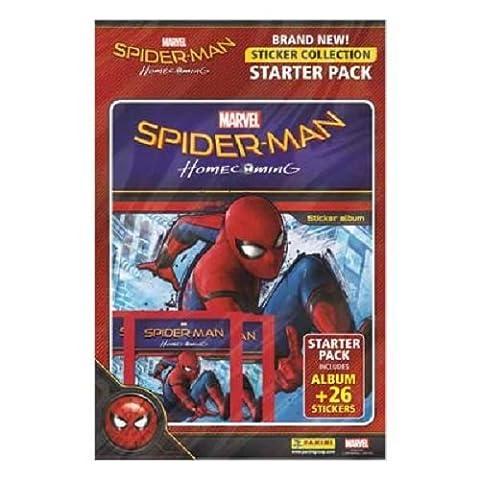 Panini Spiderman Homecoming Sticker Starter Pack - Album & 31 Stickers