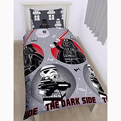 Parure de lit LEGO Star Wars The Dark Side housse de couette pour lit 1 personne + 1 taie