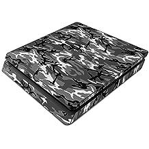 Playstation 4 SLIM Skin Design Aufkleber Vinyl Schutzfolie von DecalGirl Sony PS4 Sticker Set - Urban Camo Camouflage