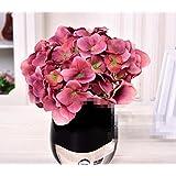 XPHOPOQ Hydrangea flores artificiales interiorinteriorjardín Decoración madre día Regalos Rosa Hortensia