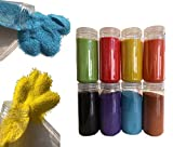 FAIRY TAIL & GLITZER FEE - Granulado de Arena Decorativa (620 g, granulados), Colores Rosa, Rojo, Azul, Verde y Negro, Blanco