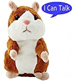 Luxr One Talking Hamster Mimicking Plush Chatimal Interactive Toy Repeats What You Say - Best Fun Toys For All Ages- Kids To Adults (Colors May Vary)