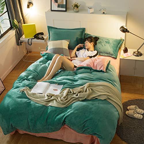 HUIYUE Bettbezug mit,Super weiche Flanell Bettbezüge Bettwäsche-1 stück-Set Bettbezug-O 220x240cm(87x94inch) -