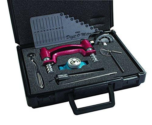 Baseline Handbewertungsset | Hand Dynamometer | 7-teilig | SET | Alle Instrumente zur Ermittlung der Kraft und Beweglichkeit der Hände und Finger in Transport Koffer -