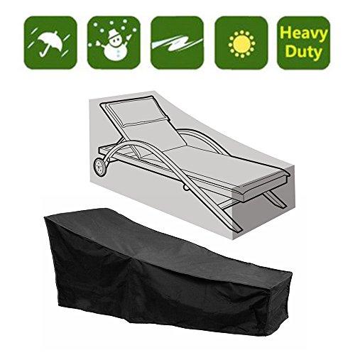 SmartRICH Lounge Stuhlabdeckung,Dauerhafte wasserdichte wasserdichte staubdichte Patio-Sofa-Garten-Möbel Sunbed-Abdeckung