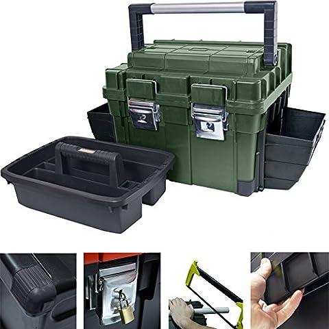 Anglerkoffer HD Compact Plus 64x35cm Werkzeugkoffer Kasten Werzeugkiste Sortimentskasten Angelkoffer
