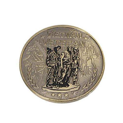 Xinmeitezhubao Gedenkmünze Sammlung, Vietnam Vietnam-Krieg-Veteran Gedenkmünze, Militärabzeichen Medaillon Silber Münzsammlung -