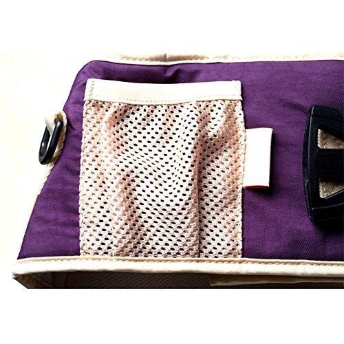 Front Holding Baby Taille Hocker Doppel Schulter Cotton Strap Mutter und Kind Supplies für 4-36 Monate Baby Purple