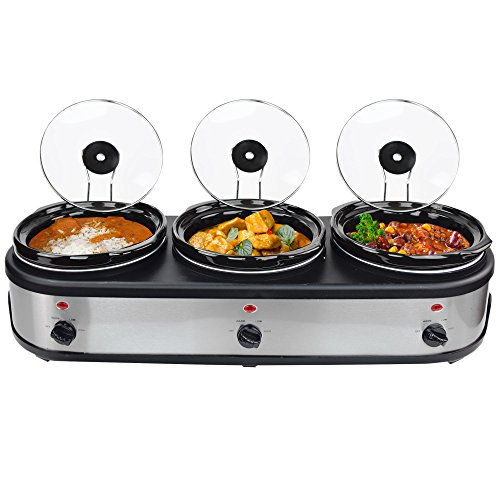 Syntrox Germany 3 x 2,5 l Slow-Chef SC-7.5L OV Schongarer
