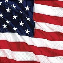 Amscan International - Tovaglioli per feste Flying Colours, tema bandiera americana