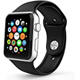 MoKo Apple Watch Series 2 / 1 Correa 42mm, Reemplazo de Silicona Suave Deportiva para Todos los Modelos de Apple Watch 42mm, Verde (3 piezas de correas incluye para 2 longitudes, No Ajuste Apple Watch 38mm 2015)