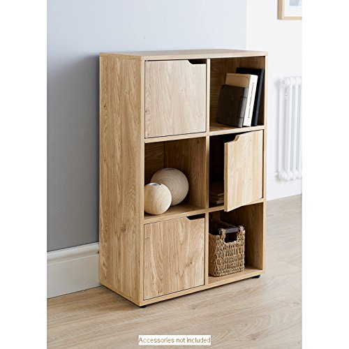 mdf-oak-finish-6-cube-shelf-books-cds-dvds-storage-unit-3-doors-3-open-cubes-by-turin