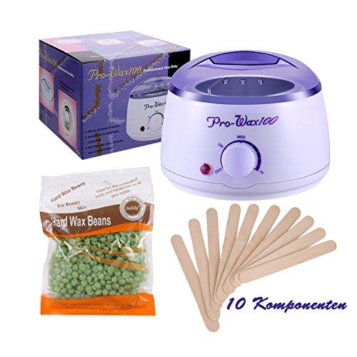 Guisee Wax Warmer, Elektro-Remover Waxing Kit mit Hartwachs-Bohnen für unerwünschte Haarentferner, speziell für alle Teile, geeignet für Frauen und Männer.