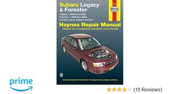 subaru legacy forester 2000 09 haynes repair manual paperback rh amazon co uk haynes manual subaru forester 1999 subaru forester haynes manual pdf
