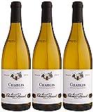 Maison Bassot  Vin blanc Bourgogne de Chablis 2013, 75 cl - Lot de 3