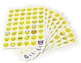 MissBirdler Emoji Sticker Set 10 Seiten 48 Verschiedene Gesichter (488 Aufkleber)