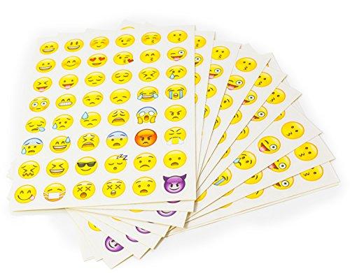 emoji sticker MissBirdler Emoji Sticker Set 10 Seiten 48 Verschiedene Gesichter (488 Aufkleber)