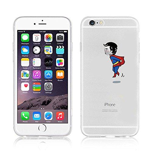 Disney Cartoons & Super Hero Transparent Klar TPU Soft Case für Apple iPhone 5SE, plastik, Micky & Minnie, APPLE IPHONE 5SE SUPERMAN .1