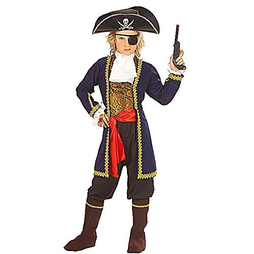 Widmann WDM55606 - Costume Per Bambini Pirata dei 7 Mari (128 cm/5-7 Anni ), Multicolore, XXS