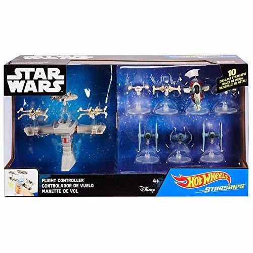 Hot Wheels Starships Star Wars pack de 10 naves más controlador de vuelo y sonido