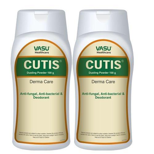 Vasu Healthcare Cutis Dusting Powder, 100grm (Pack of 2)