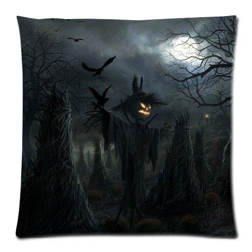 rtuuruyuy Happy Halloween Scary Pumpkin Custom Kissenbezugcase 18