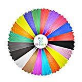 GEEETECH PLA Filament 1.75mm, PLA de filament de stylo 3D, paquet de lignes d'impression 3D avec 20 types de couleurs saturées, dont 5 types de couleurs fluorescentes