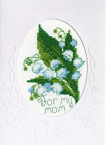 Riolis Kreuzstich-Set Karte für Meine Mutter, Baumwolle, Mehrfarbig, 11.8 x 16.4 x 0.1 cm (Baumwolle Mutter)