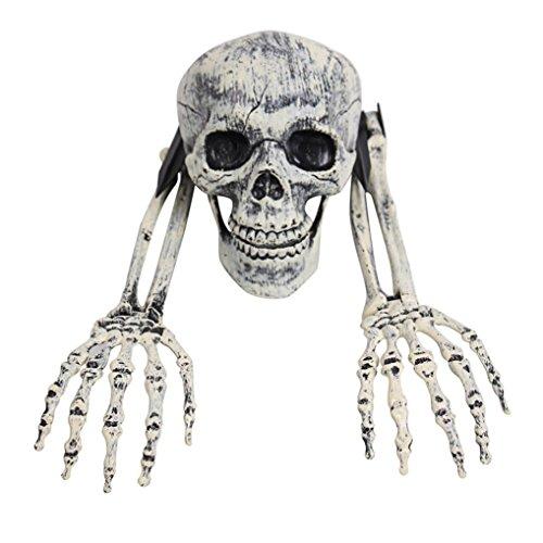 3 Stück Halloween Horror begraben Lebend Skeleton Schädel Garten Hof Rasen Dekoration Halloween Schädel und Schädel Arm Schädel Arm HKFV (Drei Person Halloween Kostüme)