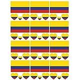SpringPear 12x Temporär Tattoo von Flagge Kolumbiens für Internationale Wettbewerbe Olympischen Spiele Weltmeisterschaft Wasserfeste Fahnen Tätowierung Flaggenaufkleber WM Fan Set (12 Pcs)