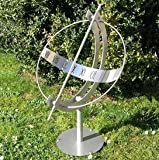 Gartentraum Äquatoriale Sonnenuhr aus Edelstahl - Milenium-1, Edelstahl