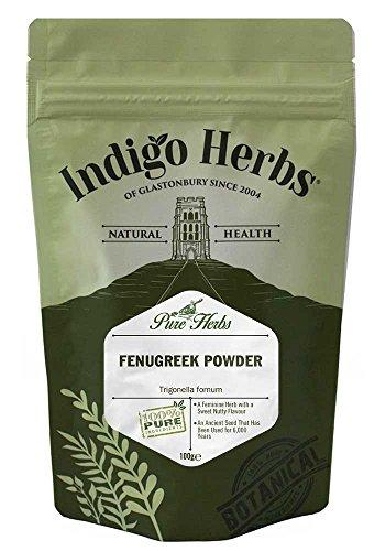 Indigo Herbs Polvo de la semilla de la alholva (Fenogreco) 100g