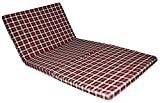 Three Fold Single Bed Size 2.2 Inches Epe Foam Foldable Mattresses (72' X 35' X 2.2',Checkered)