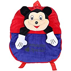 Ultra Smiley Mickey Mouse School Bag 14 inches - Red