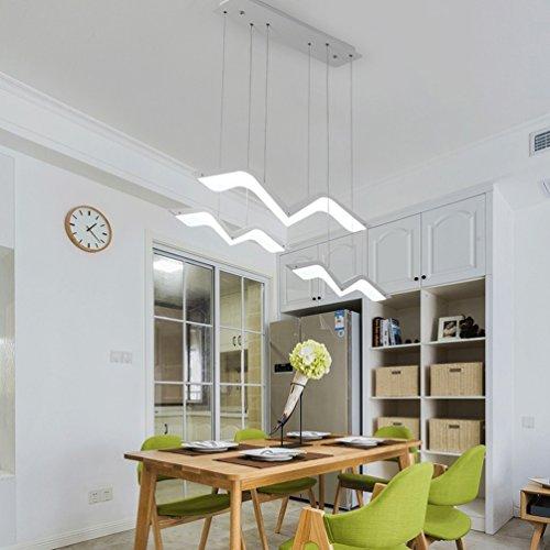 Minimalistische LED Pendelleuchte mattweiß Pendellampe Möwe Form Kreative Design Hängeleuchte Modern Esszimmerlampe Innenbeleuchtung Dekorative Personalisierte Acryl Lampeschirm Weiß Licht 6000K , 3-flammig