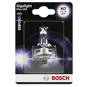 bosch lampe de phare gigalight plus 120 h7 12v 55w. Black Bedroom Furniture Sets. Home Design Ideas