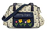 Pink Lining Blooming Gorgeous Baby Changing Bag - Navy & Cream Boats