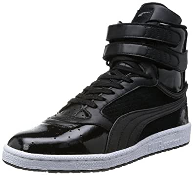 Puma Men's Sky 2 Hi Urban Triple Black Leather Sneakers - 8 UK/India (42 EU)