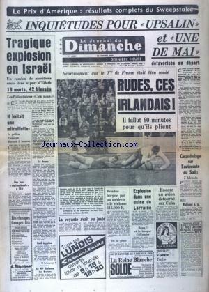 JOURNAL DU DIMANCHE (LE) [No 1209] du 25/01/1970