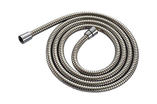 1,5m (149,9cm) souple Flexible de douche en acier inoxydable 304–Ajustement universel–Compatible avec toutes les têtes de douchette et pulvérisateurs–Real en acier inoxydable 304