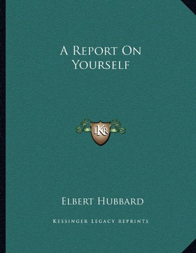 A Report on Yourself