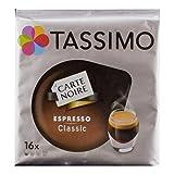 Tassimo Carte Noire Espresso Classic, Intensiv, Kaffee, Arabica, Kaffeekapsel, gemahlener Röstkaffee, 16 T-Discs